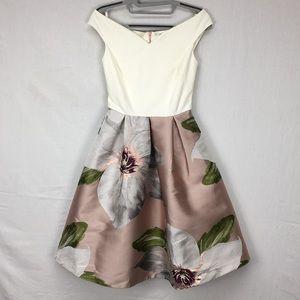 Ted Baker Valtia Metallic Floral Midi Dress